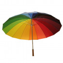 Umbrella golf rainbow 130 cm 16 strips