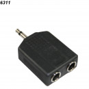 Headphone adaptor plug 3,2  2 x 6.3