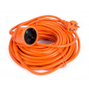 Extension lead 20 m orange bellson