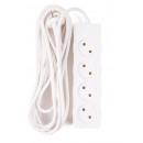 Extension socket 4 watt + 5.0 m 2x1 bellson