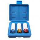Socket set 3 pieces colour 17-19-21 mm