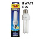 Ampoule à économie d'énergie 2u e27 blanc chau