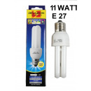 Energy-saving bulb 2u e27 warm white 11 w