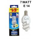 groothandel Verlichting: Energiebesparende  gloeilamp spiraal e14 warm wit 7