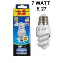 Energy-saving bulb spiral e27 warm white 7 w