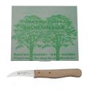 Peeling knive curved wood -solingen- / display