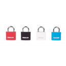 Padlock aluminium 30 mm carte blister / couleur mi