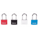 Padlock aluminium 40 mm high/mixed color