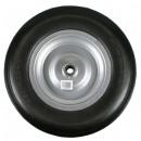 Wheel + tyre large pu 4.00-8 steel rim