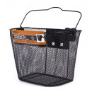 Bicycle basket metal + holder 34 x 25 x 26 cm