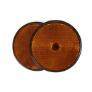 Reflektor rund orange 85 mm 2 st