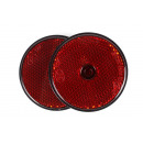 wholesale Car accessories: Reflector round red 60 mm 2 pieces e-keur