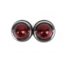 Side light chrome red 70 mm 2 pieces