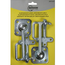 Safety hook set + rings left/right 4 pieces