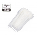 Cable ties markable 4.8 x 190 mm / white 100 piece
