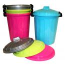 Litter bin + lid 25 l mixed colors