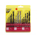 Drill set 16 pieces combination case