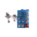 wholesale Car accessories: Car light h7 + h4 set 19 pieces case