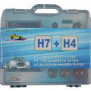 Car light h7 + h4 set 19 pieces case