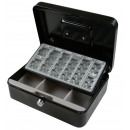 Cash box black+ coin tray 250 x 180 x 90
