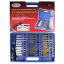 Brush set nylon/steel/brass 38 pieces