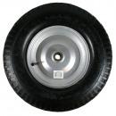 Wheel + tyre large 4.00 - 8 steel rim