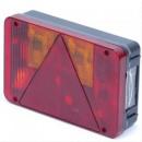 Lakókocsi hátsó lámpák - piros - 220 x 140 mm