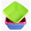 Dishpan square 32 cm mix colors