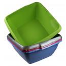 Dishpan square 36 cm mix colors
