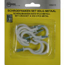 wholesale Ironmongery: Schrew hook set 9 pieces metal