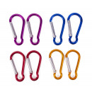 Carabine hook set 8 pieces 4 x 45mm