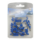 Cable lug 50 pieces male round / 2.5=>4 blue