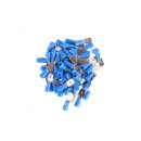 Cable lug 50 pieces male flat / 2.5=>6.3 blue