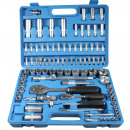 wholesale Garden & DIY store: Socket set 94  pieces satin-f benson