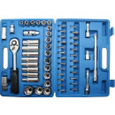 Socket set 60 pieces satin-f benson