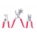 Punch pliers set 3 pieces + acc.