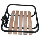 Bike front carrier 24-28'' black+wood