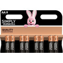 Duracell plus duralock aa 8-pack