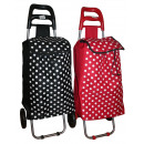 Shopping trolley dots bl/r 92*32*21 cm