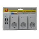 Socket indoor 3 pieces + remote control