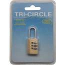 Padlock kombináció zár TRI-CIRCLE 20 mm TRI-CIRCLE