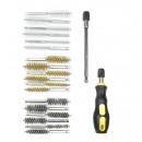 Brush set nylon/steel/brass 20 pieces