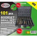 Drill set 101 pieces hss cobalt coated