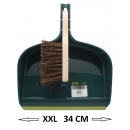 groothandel Reinigingsproducten: Stofpan en  borsteltuin 32cm jumbo