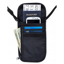 wholesale Bags & Travel accessories: Travel wallet neck 17.5 x 14 cm black