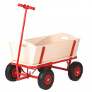 wholesale Toys: Kid's wagon wood 92 x 61 x 98 cm