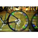 La bicicletta ha condotto la rotella + la struttur