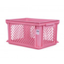 Cassetta per biciclette di plastica rosa 40 x 30 x