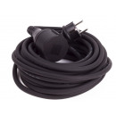 Extension cord 10 meters earthed rubber
