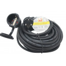 Extension cord 15 meters earthed rubber